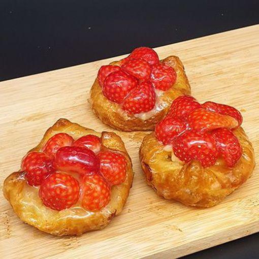 Afbeelding van Deense kroon verse aardbeien