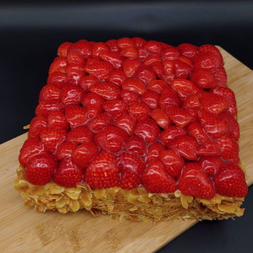 Afbeelding van Verse aardbeien taart